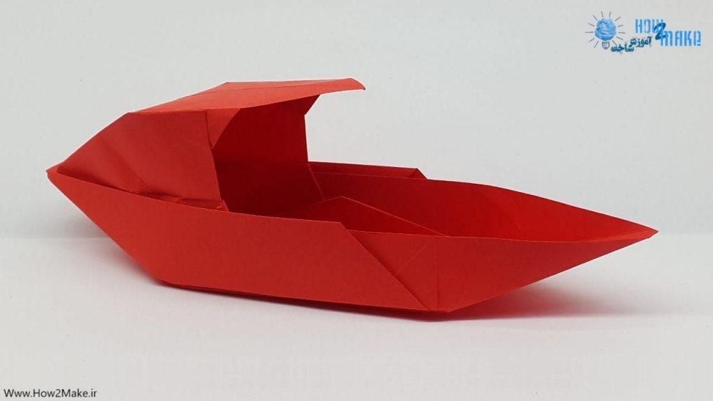 اوریگامی قایق کاغذی