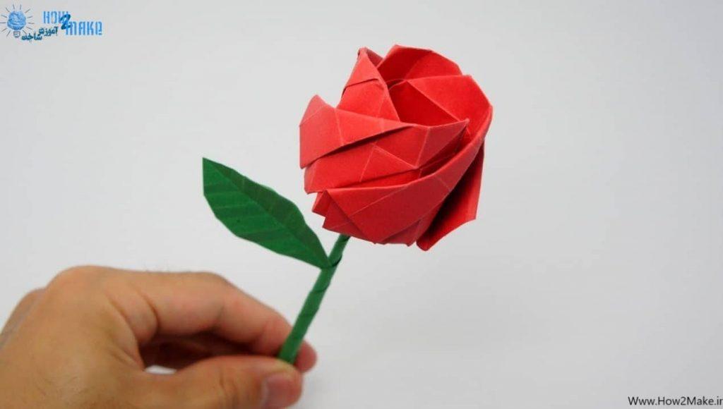 اوریگامی گل رز